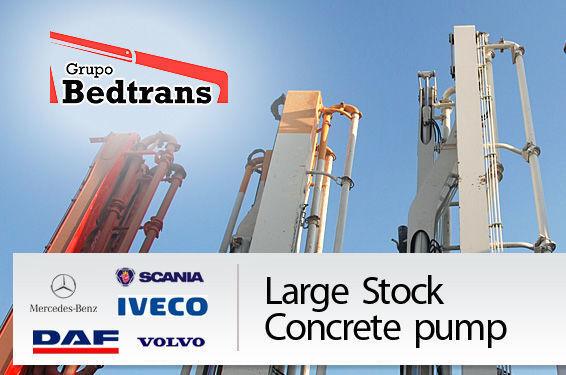 pumpa za beton PUTZMEISTER THE BEST STOCK THE CONCRETE PUMPS IN SPAIN BEDTRANS