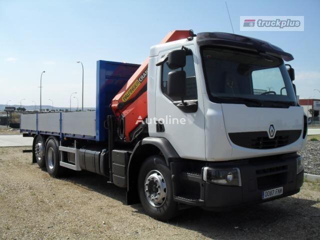 kamion s ravnom platformom RENAULT PREMIUM 370