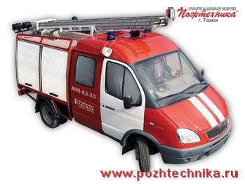 vatrogasno vozilo GAZ APP-0,5-2,0 Avtomobil pervoy pomoshchi