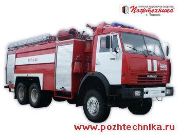 vatrogasno vozilo KAMAZ APT-9-40 Avtomobil pennogo tusheniya pozharnyy