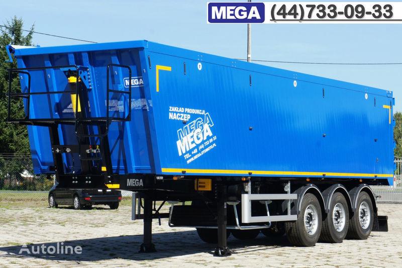 nova poluprikolica kipera MEGA 45 m³ - alum. tipper SUPER-LIGHT - 5,300 KG & hatch door - READY