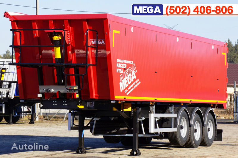 nova poluprikolica kipera MEGA 45 m³ - alum. tipper SUPER-LIGHT - 5,300 KG & hatch door - READY