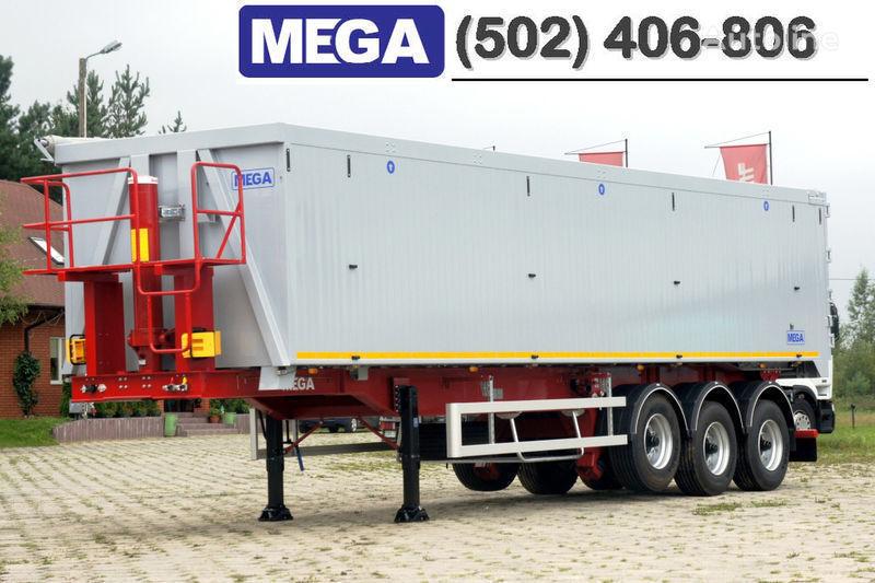 nova poluprikolica kipera MEGA 50/11300 KD - camosval 50 kub., pama k tyagachu 6x4, VYSOTA 3,00 m