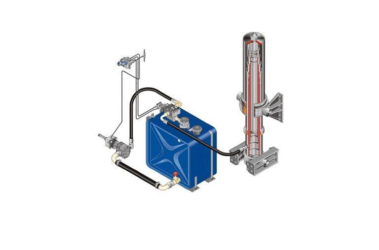 novi hidraullični rezervoar  Komplekt gidravliki ITALIYa/AVSTRIYa/na MAN/DAF/IVECO/RENAULT za tegljača
