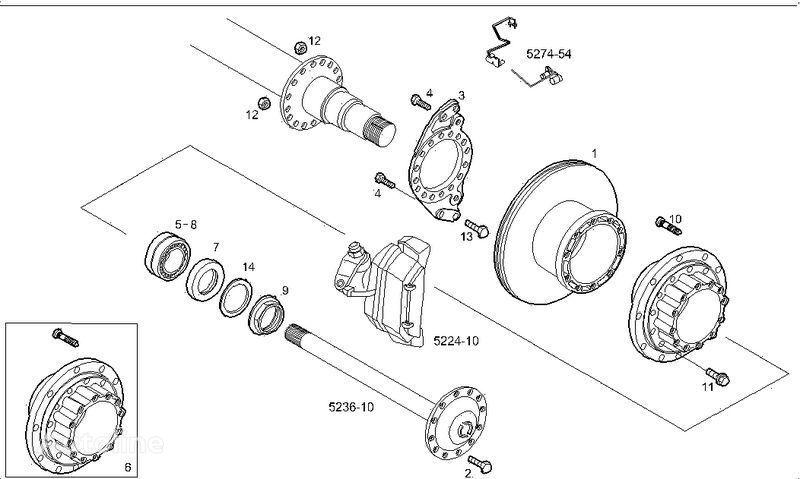 novi kočioni disk  2995812 2996328 7185503 7189476 za kamiona IVECO STRALIS