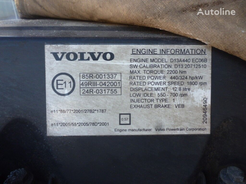 motor  Volvo D13A440 ECO6B za kamiona VOLVO