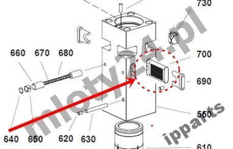 rezervni delovi za Ostale opreme MONTABERT 1200 klin zabezpieczenie grot nie Ramer