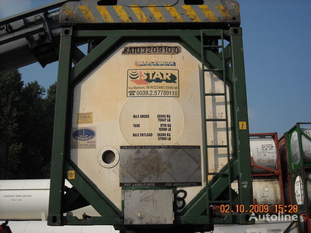 cisterna za prevoz hemikalija CPV 30 PIEDI L4BH multiscomparto