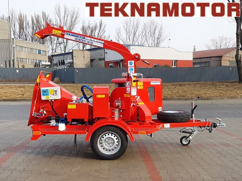 nova drobilica za drvo TEKNAMOTOR Skorpion 160SD