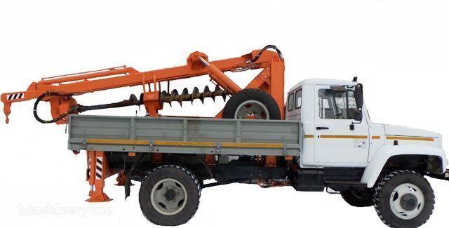 druga građevinska oprema BKM ZU Burilno-kranovaya mashina BKM-3U na avtomobilyah GAZ 33081 («Sa