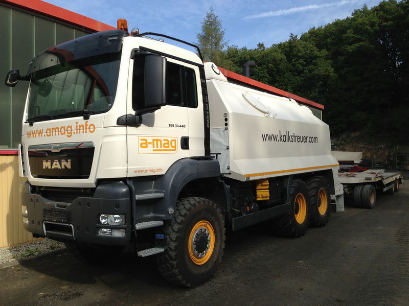 nova mašina za reciklažu asfalta MAN TGS spreader 33.440 - 6x6