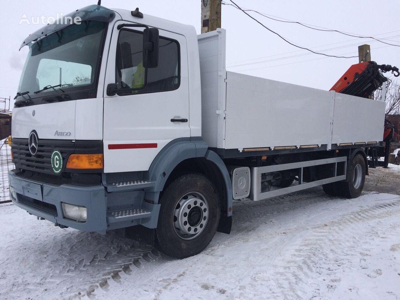 kamion s ravnom platformom MERCEDES-BENZ ATEGO 1828 Palfinger PK 13000