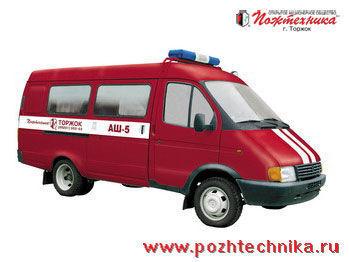 vatrogasno vozilo GAZ ASh-5 Avtomobil shtabnoy