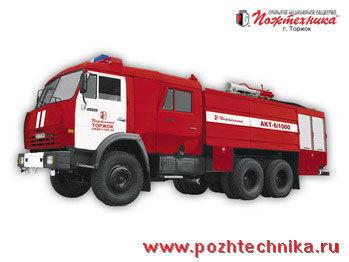 vatrogasno vozilo KAMAZ AKT-6/1000-80/20 Avtomobil kombinirovannogo tusheniya