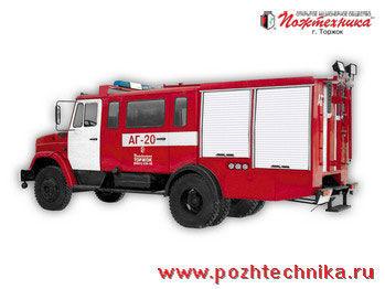 vatrogasno vozilo ZIL  AG-20 Avtomobil gazodymozashchitnoy sluzhby
