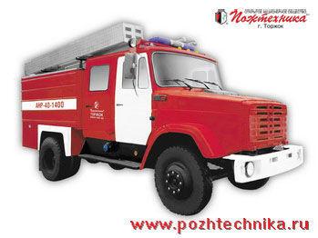 vatrogasno vozilo ZIL ANR-40-1400 Avtomobil nasosno-rukavnyy