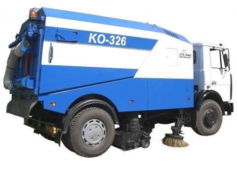 vozilo za čišćenje ulica MAZ KO-326
