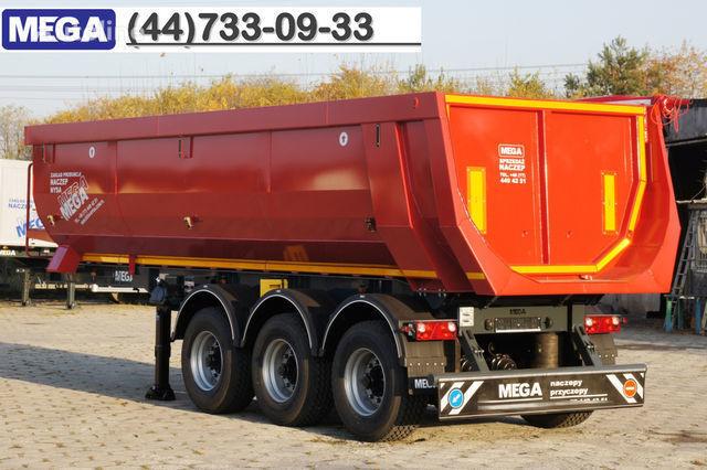 nova poluprikolica kipera KARGOMIL 25 - 28 m³ HALF-PIPE / steel tipper - DOMEX 5/7 mm / SUPER STRON