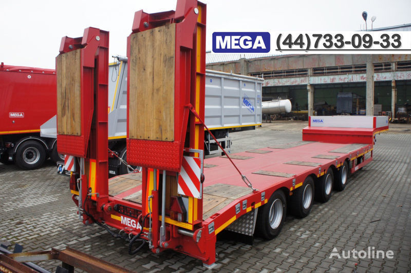nova poluprikolica sa niskom platformom MEGA 4 AXEL FLATBED / HYDRAULIC RAMPS / UP TO 45 T!