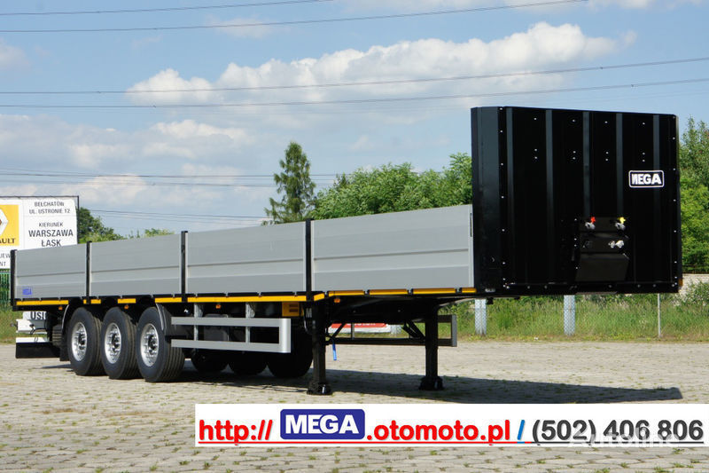 nova poluprikolica sa ravnom platformom MEGA MNS 22,5 - PLATFORM & ALUSIDES 800 MM /  STRONG  FRAME DOMEX650