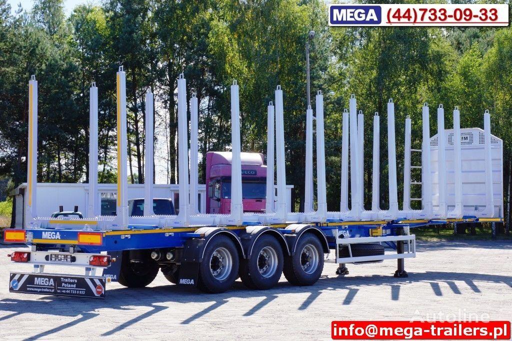 nova poluprikolica za prevoz drva MEGA 10 U STANCHION - TIMBER SEMI-TRAILER/HOLZAUFLIEGER- READY ! BERE