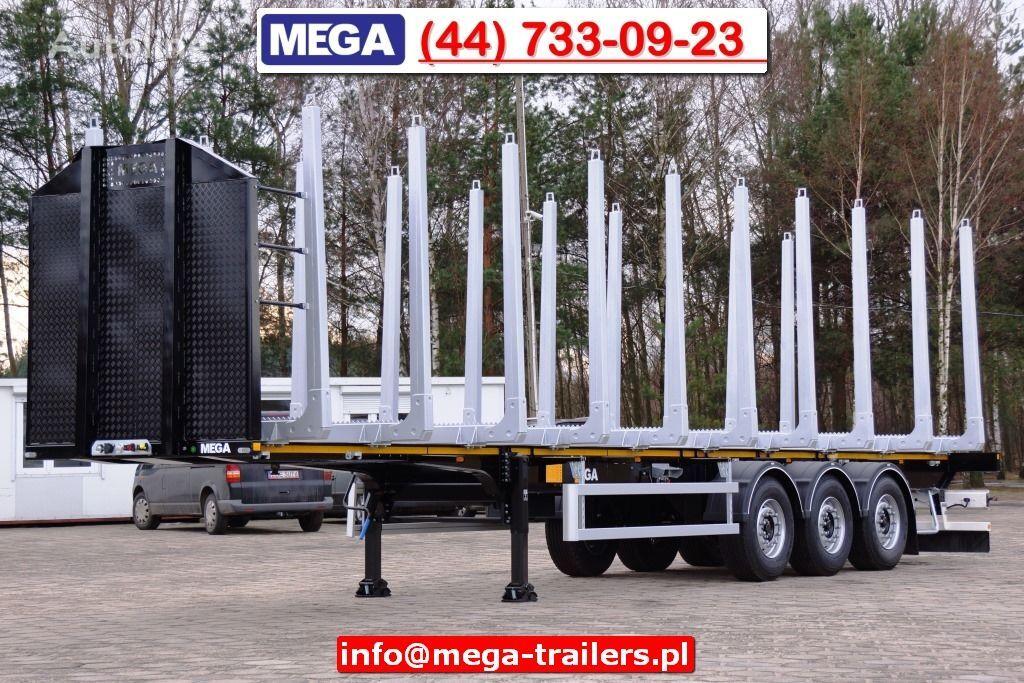 nova poluprikolica za prevoz drva MEGA 3 AXEL WOOD CARIER NEW