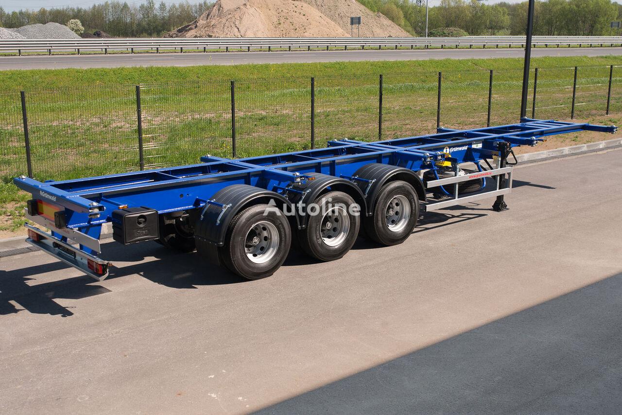nova poluprikolica za prevoz kontejnera GRUNWALD Versatile heavy duty container semitrailer