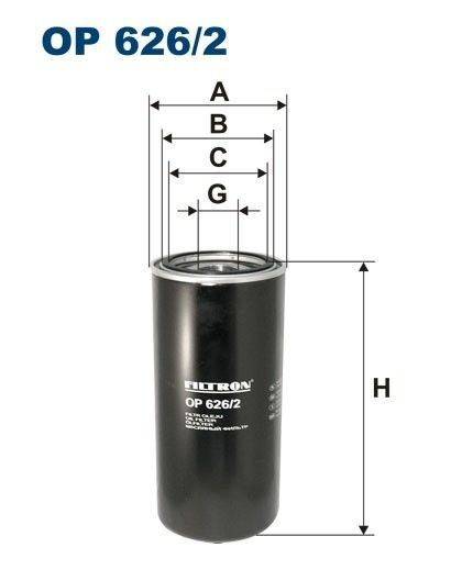 DAF FILTRON filter za ulje za DAF 85CF.340, 85CF.380, 85CF.430, 95.380XF, 95.430XF, 95.480XF, 95.5 kamiona