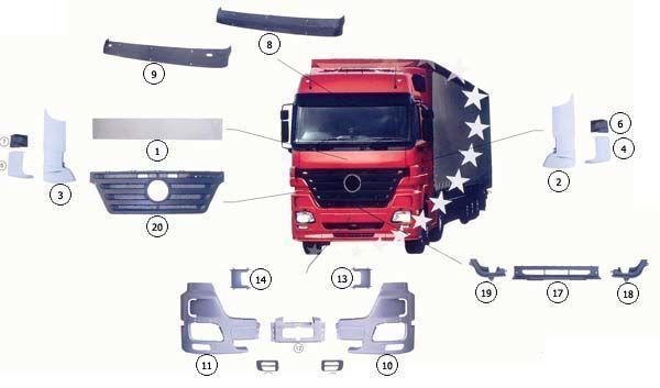 nova hauba MERCEDES-BENZ 9437500518 za kamiona MERCEDES-BENZ ACTROS MP2