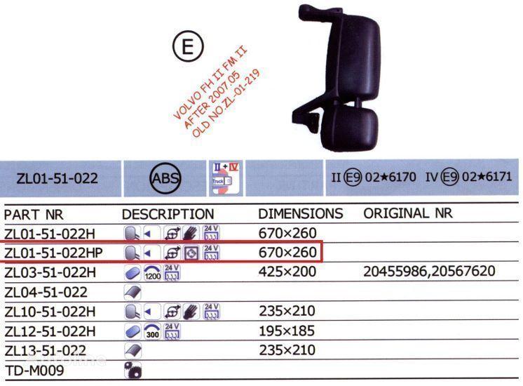 novi ogledalo VOLVO 20567637,20567647 za kamiona VOLVO FH