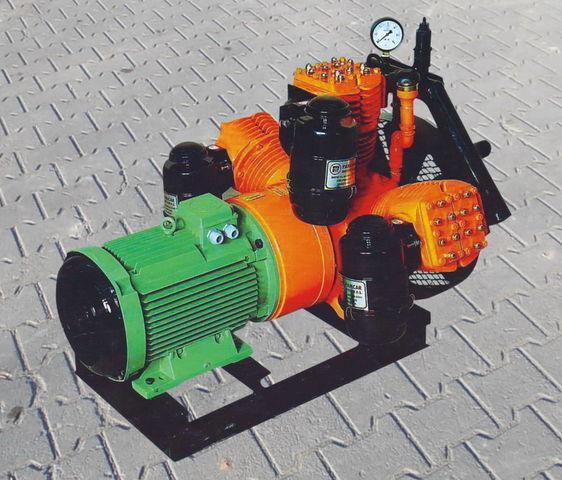 pneumatski kompresor za cisterne poluprikolice V3.16 tłokowy z silnikiem elektrycznym