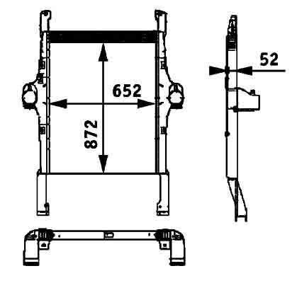 novi radijator za hlađenje motora  BEHR HELLA IVECO 41214448.8ML 376 724-251 za tegljača IVECO STRALIS