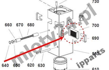 rezervni delovi za druge građevinske opreme MONTABERT 1200 klin zabezpieczenie grot nie Ramer