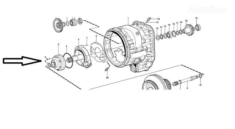 rezervni delovi Pompa VOE11145264 VOLVO za utovarivača točkaša VOLVO L180E
