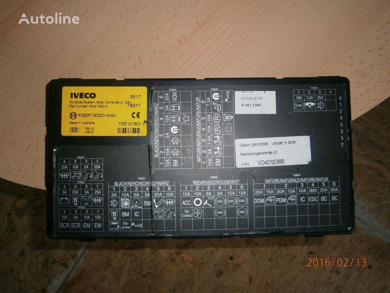 upravljačka jedinica  Iveco Stralis EURO5 Multiplex system body computer 504276228 za tegljača IVECO Stralis
