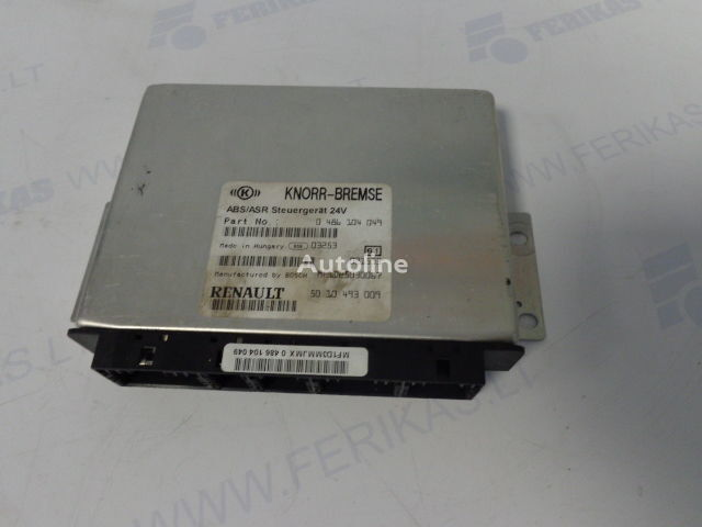 upravljačka jedinica  KNORR-BREMSE ABS ASR Steuergerat 0486104049,5010493009,BOCH MF1D25030067 za tegljača RENAULT