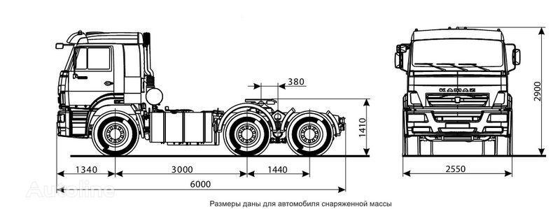 tegljač KAMAZ 6460 (6h4)