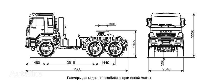 tegljač KAMAZ 65221