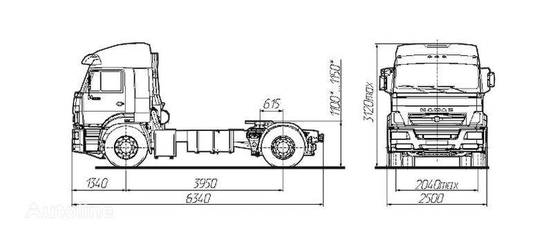 tegljač KAMAZ Sedelnyy tyagach KAMAZ-5460