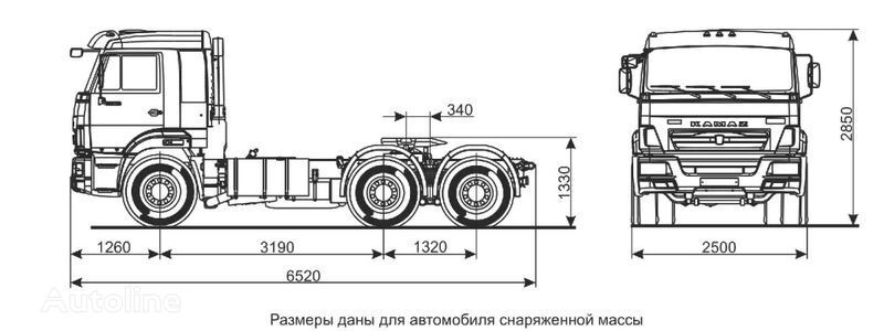 tegljač KAMAZ Sedelnyy tyagach KAMAZ-65116 (6h4)